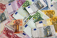 Still-life euro. Still-life euro money..