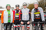 At The Kerry Crusader cycle club in association with Orbis scenic challenge on Sunday Starting at the Listowel community centre were Declan McCarthy,Barry O'Connor, Pat Joy and Richard Horgan