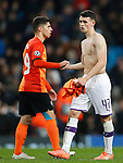Phil Foden of Manchester City leaves the pitch after the UEFA Champions League match against Shakhtar Donetsk at the Etihad Stadium, Manchester. Picture date: 26th November 2019. Picture credit should read: Darren Staples/Sportimage