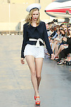 Fernanda walks runway in a Douglas Hannant Resort 2012 outfit, on the USS Intrepid, June 7, 2011.