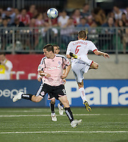 24 June2009: New York Red Bulls midfielder Seth Stammler #6 and Toronto FC midfielder Sam Cronin #2 in action at BMO Field in Toronto, in a game between the New York Red Bulls and Toronto FC. Toronto FC won 2-0..
