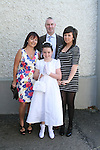 Caoimhe Murphy and family at the Walshestown NS Communion in St.Pauls Church...Photo NEWSFILE/Jenny Matthews.(Photo credit should read Jenny Matthews/NEWSFILE)....This Picture has been sent you under the condtions enclosed by:.Newsfile Ltd..The Studio,.Millmount Abbey,.Drogheda,.Co Meath..Ireland..Tel: +353(0)41-9871240.Fax: +353(0)41-9871260.GSM: +353(0)86-2500958.email: pictures@newsfile.ie.www.newsfile.ie.FTP: 193.120.102.198.