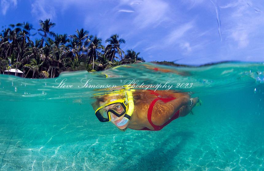 Snorkeler<br /> Cooper Island<br /> British Virgin Islands