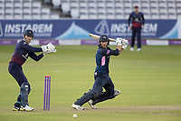James Harris of Middlesex CCC cuts backward of point for four runs during Middlesex vs Lancashire, Royal London One-Day Cup Cricket at Lord's Cricket Ground on 10th May 2019
