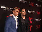 As The World Turns' Billy Magnussen & Guiding Light's Paul Wesley at Premier of Tell Me A Story in which they star - This is no fairy tale at Metrograph, NYC on October 23, 2018 which is a CBS - all Access original series - premieres on Halloween  (Photo by Sue Coflin/Max Photos)