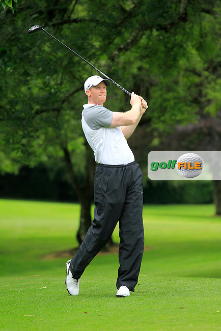 Paul Reavey (Warrenpoint) on the 3rd tee during round 1 of The Mullingar Scratch Cup in Mullingar Golf Club on Sunday 3rd August 2014.<br /> Picture:  Thos Caffrey / www.golffile.ie
