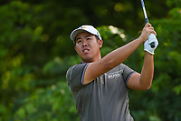 Byeong Hun An (KOR) watches his tee shot on 8 during round 4 of the 2019 Charles Schwab Challenge, Colonial Country Club, Ft. Worth, Texas,  USA. 5/26/2019.<br /> Picture: Golffile | Ken Murray<br /> <br /> All photo usage must carry mandatory copyright credit (© Golffile | Ken Murray)