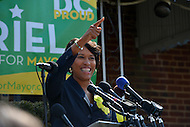 March 23, 2013  (Washington, DC)  Ward 4 Councilmember Muriel Bowser announces that she is running for mayor of the District of Columbia on March 23, 2013. She is the first person to announce for the 2014 race.  (Photo by Don Baxter/Media Images International)