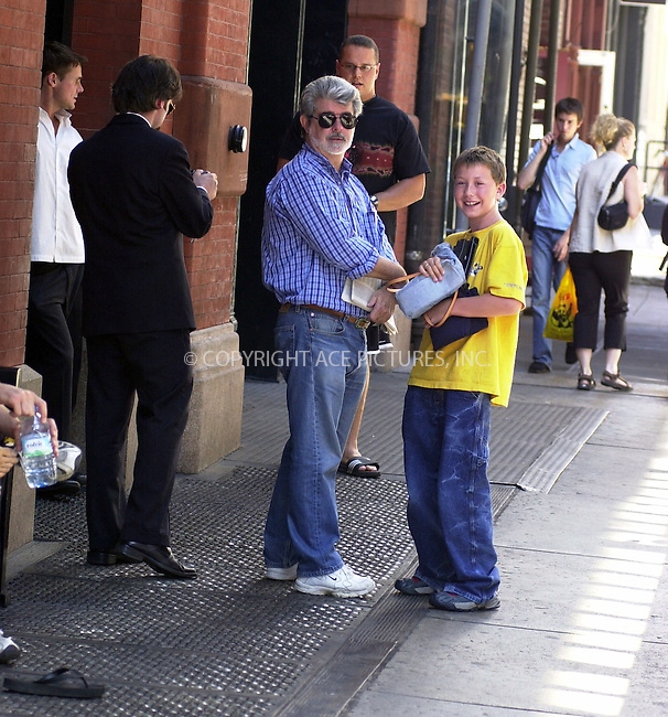 WWW.ACEPIXS.COM . . .  ....NEW YORK, AUGUST 9, 2002 ....STOCK PHOTO: GEORGE LUCAS....Please byline: ACE007 - ACE PICTURES... *** ***  ..Ace Pictures, Inc:  ..Philip Vaughan (646) 769-0430..e-mail: info@acepixs.com..web: http://www.acepixs.com