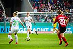 01.05.2019, RheinEnergie Stadion , Köln, GER, DFB Pokalfinale der Frauen, VfL Wolfsburg vs SC Freiburg, DFB REGULATIONS PROHIBIT ANY USE OF PHOTOGRAPHS AS IMAGE SEQUENCES AND/OR QUASI-VIDEO<br /> <br /> im Bild | picture shows:<br /> Nilla Fischer (VfL Wolfsburg #4) im Zusammenspiel mit Pia-Sophie Wolter (VfL Wolfsburg #20), <br /> <br /> Foto © nordphoto / Rauch