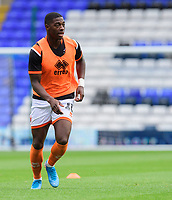 Blackpool's Sullay Kaikai during the pre-match warm-up<br /> <br /> Photographer Chris Vaughan/CameraSport<br /> <br /> The EFL Sky Bet League One - Coventry City v Blackpool - Saturday 7th September 2019 - St Andrew's - Birmingham<br /> <br /> World Copyright © 2019 CameraSport. All rights reserved. 43 Linden Ave. Countesthorpe. Leicester. England. LE8 5PG - Tel: +44 (0) 116 277 4147 - admin@camerasport.com - www.camerasport.com