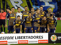 ROSARIO - ARGENTINA - 12-05-2016: Los Jugadores de Rosario Central de Argentina, posan para una foto, durante partido de ida de cuartos de final, entre Rosario Central y Atletico Nacional por la Copa Bridgestone Libertadores 2016 en el Estadio Gigante de Arroyito, de la ciudad de Rosario. / The players of Rosario Central of Argentina, pose for a photo during a match for the first leg for the quarterfinal between Rosario Central and Atletico Nacional for the Bridgestone Libertadores Cup 2016, in the Gigante de Arroyito Stadium, in Rosario city. Photo: Photogamma / Mario Garcia / VizzorImage / Cont