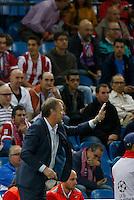 Age Hareide Coach of Malmo FF Madrid Spain 22 de Octubre de 2014. CHAMPIONS 14/15, 3º Match, match played between Atletico de Madrid vs Malmo FF. at Vicente Calderon stadium. // Madrid España 22 de Octubre de 2014. CHAMPIONS 14/15, Jornada 3º , partido disputado entre Atletico de Madrid vs Malmo FF. en estadio Vicente Calderon . PHOTO: Enrique de la Fuente/Shot for Press.