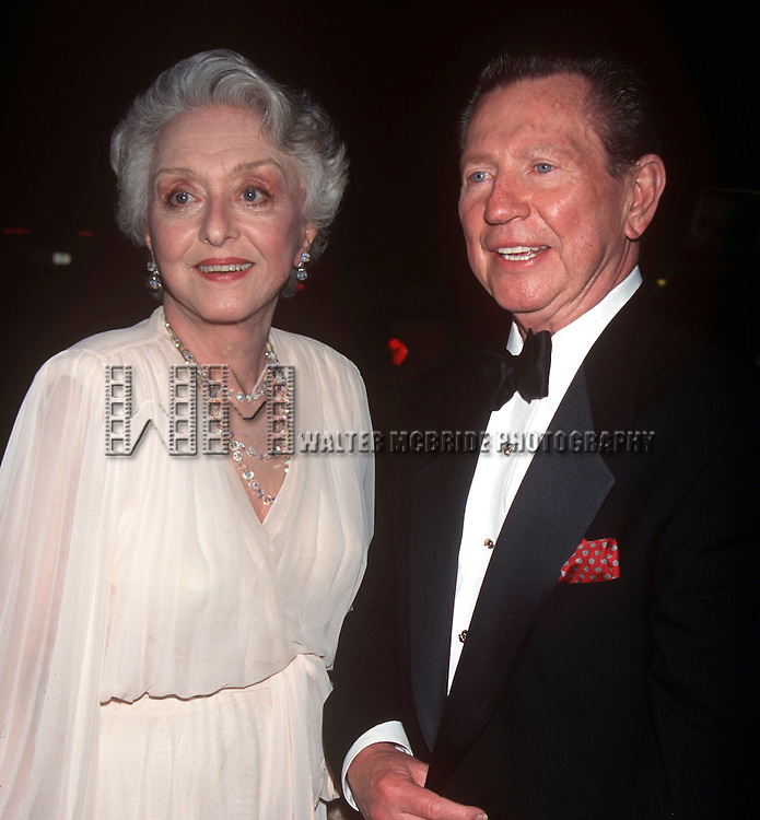 Celeste Holm and Donald O'Connor in New York City at the MGM Salute on July 17th, 1997.