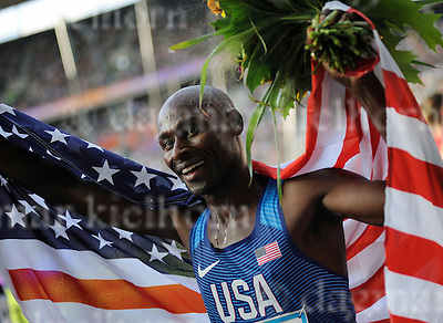 September 03, 2011 Olympic Stadium ,Berlin,Germany<br /> ISTAF (Internationales Stadionfest) IAAF World Challenge 2016<br /> Bernard Lagat ,USA,wins 2nd place celebrates,ends his career after running Men`s 3000m at  ISTAF Berlin IAAF World Challenge 2016 .<br /> ,