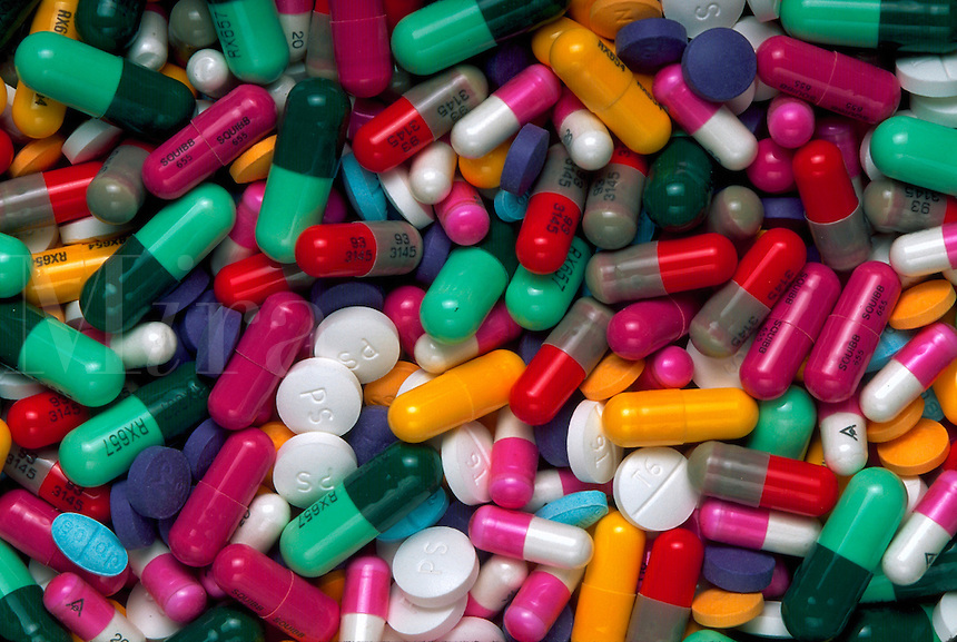 Pharmaceuticals: tablets, capsules and pills