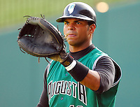 22 Aug 2007: Henry Gutierrez of the Augusta GreenJackets, Class A South Atlantic League affiliate of the San Francisco Giants, in a game against the Greenville Drive at West End Field in Greenville, S.C. Photo by:  Tom Priddy/Four Seam Images