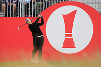 Amy Yang (KOR) on the 1st tee during Round 3 of the Ricoh Women's British Open at Royal Lytham &amp; St. Annes on Saturday 4th August 2018.<br /> Picture:  Thos Caffrey / Golffile<br /> <br /> All photo usage must carry mandatory copyright credit (&copy; Golffile | Thos Caffrey)