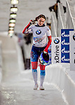 8 January 2016: Olga Potylitsina, competing for Russia, completes her second run of the BMW IBSF World Cup Skeleton race with a combined 2-run time of 1:52.44, earning a 14th place finish for the day at the Olympic Sports Track in Lake Placid, New York, USA. Mandatory Credit: Ed Wolfstein Photo *** RAW (NEF) Image File Available ***
