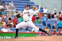 July 7th 2008:  Pitcher Jonathon Niese of the Binghamton Mets, Class-AA affiliate of the New York Mets, during a game at NYSEG Stadium in Binghamton, NY.  Photo by:  Mike Janes/Four Seam Images