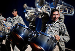 November 4, 2017:  The Air Force Academy Drum & Bugle Corps makes the Falcon Stadium tunnel a very loud and intimidating place prior the NCAA Football game between the Army West Point Black Knights and the Air Force Academy Falcons at Falcon Stadium, United States Air Force Academy, Colorado Springs, Colorado.  Army West Point defeats Air Force 21-0.