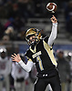 Peter DelGais #1, Wantagh quarterback, throws a pass during the Nassau County football Conference III semifinals against South Side at Shuart Stadium in Hempstead on Saturday, Nov. 10, 2018.