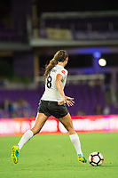 Orlando, FL - Saturday August 12, 2017: Erica Skroski during a regular season National Women's Soccer League (NWSL) match between the Orlando Pride and Sky Blue FC at Orlando City Stadium.