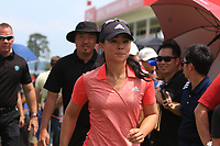 Danielle Kang (USA) in action on the 18th during Round 3 of the HSBC Womens Champions 2018 at Sentosa Golf Club on the Saturday 3rd March 2018.<br /> Picture:  Thos Caffrey / www.golffile.ie<br /> <br /> All photo usage must carry mandatory copyright credit (&copy; Golffile | Thos Caffrey)