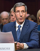 Joseph Simons testifies before the United States Senate Committee on Commerce, Science, and Transportation on his nomination to be Chairman of the Federal Trade Commission (FTC) on Capitol Hill in Washington, DC on Wednesday, February 14, 2018.<br /> Credit: Ron Sachs / CNP