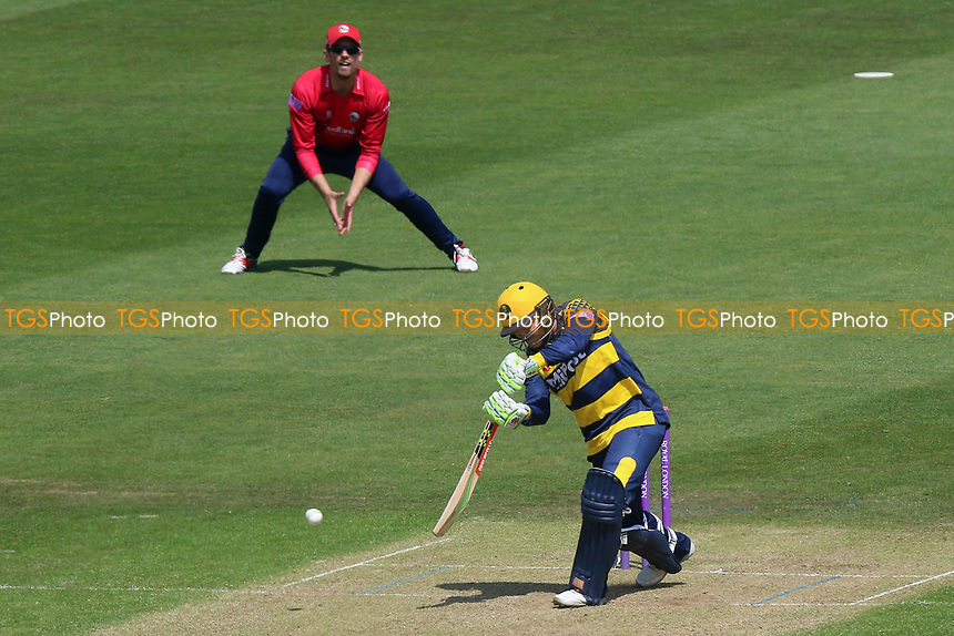 Kiran Carlson in batting action for Glamorgan during Glamorgan vs Essex Eagles, Royal London One-Day Cup Cricket at the SSE SWALEC Stadium on 7th May 2017