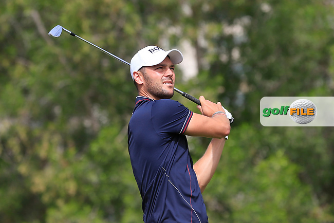 Martin Kaymer (GER) on the 4th during Round 1 of the Omega Dubai Desert Classic, Emirates Golf Club, Dubai,  United Arab Emirates. 24/01/2019<br /> Picture: Golffile | Thos Caffrey<br /> <br /> <br /> All photo usage must carry mandatory copyright credit (© Golffile | Thos Caffrey)