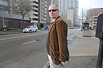 Writer Aleksandar Hemon is seen at the intersection of Sheridan and Granville around the corner from his home in the Edgewater neighborhood of Chicago, Illinois on May 7, 2009.