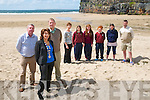 Pictured on Ballybunion Beach on Wednesday afternoon were Padraigh Hanrahan, Mayor of Ballybunion Joan O.Connor, Mick McCarthy, Anne Cummins, Briannagh O'Connor, Ruth McCarthy, Rachel Hanrahan, Claire Mulvihill & Gary Mulvihill.