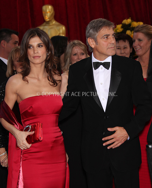 WWW.ACEPIXS.COM . . . . .  ....March 7 2010, Hollywood, CA....Actor George Clooney (R) and Elisabetta Canali arrives at the 82nd Annual Academy Awards held at Kodak Theatre on March 7, 2010 in Hollywood, California.....Please byline: Z10-ACE PICTURES... . . . .  ....Ace Pictures, Inc:  ..Tel: (212) 243-8787..e-mail: info@acepixs.com..web: http://www.acepixs.com