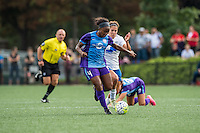 Allston, MA - Sunday July 31, 2016: Jamia Fields, Angela Salem during a regular season National Women's Soccer League (NWSL) match between the Boston Breakers and the Orlando Pride at Jordan Field.