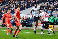 Bolton Wanderers' Sammy Ameobi flicks the ball back to team mate Will Buckley <br /> <br /> Photographer Andrew Kearns/CameraSport<br /> <br /> The EFL Sky Bet Championship - Bolton Wanderers v Millwall - Saturday 9th March 2019 - University of Bolton Stadium - Bolton <br /> <br /> World Copyright © 2019 CameraSport. All rights reserved. 43 Linden Ave. Countesthorpe. Leicester. England. LE8 5PG - Tel: +44 (0) 116 277 4147 - admin@camerasport.com - www.camerasport.com