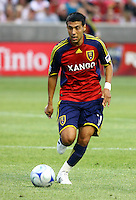 Javier Morales in the San Jose Earthquakes @ Real Salt Lake 1-1 draw at Rio Tinto Stadium in Sandy, Utah on July 03, 2009