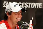 Rory McIlroy (NIR) speaking during press conference on Wednesday of the World Golf Championship Bridgestone Invitational, from Firestone Country Club, Akron, Ohio. 2/8/11.Picture Fran Caffrey www.golffile.ie