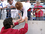 23 May 2006: Ben Olsen (USA) signs an autograph for a fan. The United States Men's National Team lost 1-0 to their counterparts from Morocco at the Nashville Coliseum in Nashville, Tennessee in a men's international friendly soccer game.