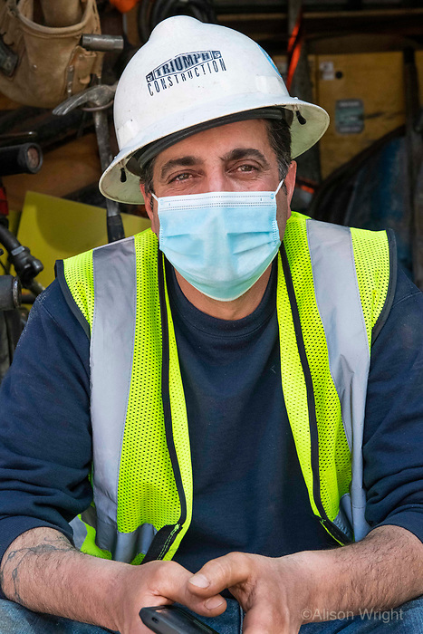 4/28/20-New York, New York City, during the time of the Coronavirus. Meet Zack. He's one of our essential workers on the frontlines for the electric company. He remains working to keep our power humming during this lock down so that we can have our lights, charge our devices, cook, watch TV, binge Netflix, work, learn and have zoom parties on our computers. Without willing workers like Zack we'd have a much more boring and uncomfortable shelter in place. The next time you throw the light switch thank Zack and everyone else working for the electric company!