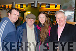 On Course<br /> ---------------<br /> enjoying the Kingdom cup coursing at Ballybeggan last Sunday Dec 27th last were L-R Keith Roche, Joe Madden, Melissa Holland with Mr Damian Roche.