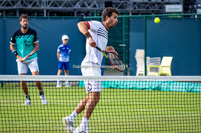 Rosmalen, Netherlands, 13 June, 2019, Tennis, Libema Open, Mens doubles: Jean Julien Rojer (NED) and Robin Haase (NED) (L)<br /> Photo: Henk Koster/tennisimages.com