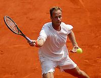 20030601, Paris, Tennis, Roland Garros, Martin verkerk in zijn partij tegen Schuettler