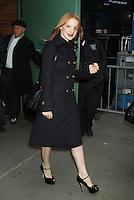 NEW YORK, NY - NOVEMBER 8: Jessica Chastain at Good Morning America in New York City. November 8, 2012. Credit: RW/MediaPunch Inc. .<br /> ©NortePhoto
