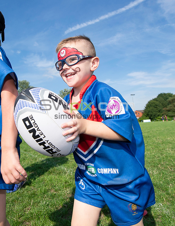 Picture by Allan McKenzie/SWpix.com - 25/07/2018 - Rugby League - Dacia Flair Play - New Spring Lions & Ince Rose Bridge RLFC, Ince-in-Makerfield, England - New Springs Ability Lions given some training.