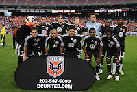 DC United starting eleven.    DC United tied Toronto FC. 3-3 at  RFK Stadium, Saturday May 9, 2009.