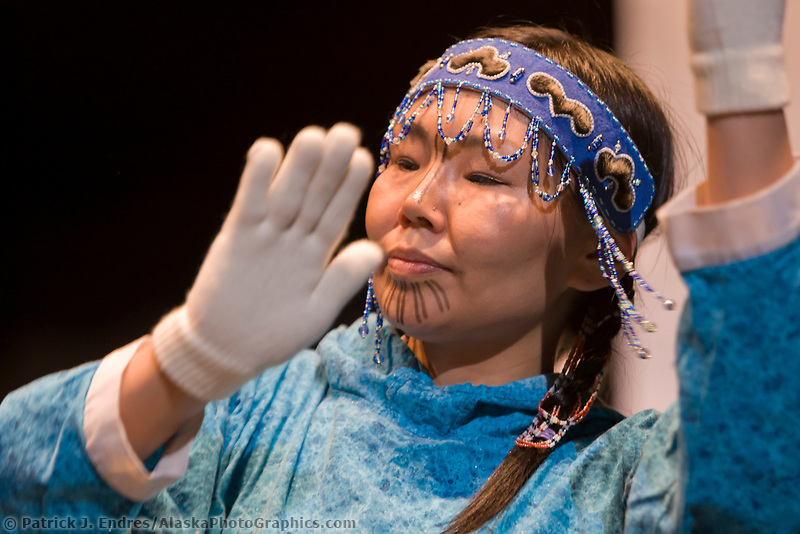 Native Alaska dancers at the 2007 Alaska Federation of Natives conference.