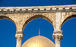 Israel, Jerusalem Old City. A Qanatir in front of the Dome of the Rock&#xA;&#xA;<br />