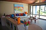 Central America, Costa Rica, Playa Esterillos Este. Alma del Pacifico villa room interior.