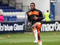 Blackpool's Donervon Daniels warming up before the match  <br /> <br /> Photographer Andrew Kearns/CameraSport<br /> <br /> The EFL Sky Bet League Two - Bristol Rovers v Blackpool - Saturday 2nd March 2019 - Memorial Stadium - Bristol<br /> <br /> World Copyright © 2019 CameraSport. All rights reserved. 43 Linden Ave. Countesthorpe. Leicester. England. LE8 5PG - Tel: +44 (0) 116 277 4147 - admin@camerasport.com - www.camerasport.com
